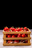 Small red tomatoes Stock Photo