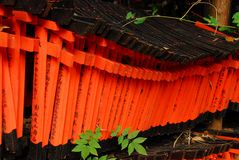 Small red torii Stock Photography