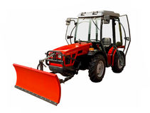 Small red tractor Royalty Free Stock Photography