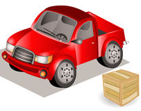 Small red truck Stock Photography