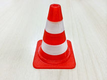 Small Red and White Cone Model Stock Photos