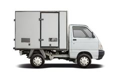 Small Refrigerated Truck Stock Photos