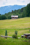 Small refuge in The Dolomites, Northern Italy Stock Photo
