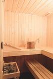 Small relaxing sauna Stock Photos