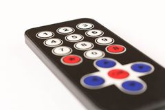 Small remote control. Isolated on white background stock image