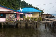 The small remote papuan village royalty free stock photos