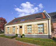 Small renovated farmhouse in the historical heart of Weelde, belgium. Royalty Free Stock Photos