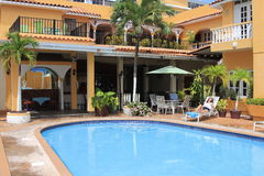 Small Resort in Old San Juan. A small, typical and colourful Colonial architecture Resort in Old San Juan Puerto Rico stock photography