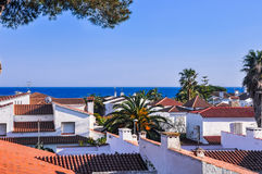 Small resort town on Costa Dorada, Spain. Housetops. Royalty Free Stock Images