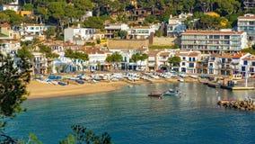Small resort village Llafranc Costa Brava, Spain in wintertime.  Stock Photography