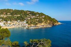 Small resort village Llafranc Costa Brava, Spain in wintertime.  Stock Images