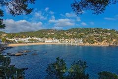 Small resort village Llafranc Costa Brava, Spain in wintertime.  Stock Photos