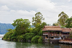 Small restaurant on the lake Royalty Free Stock Image