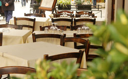 Small restaurant. Small local terrace of restaurant Royalty Free Stock Image
