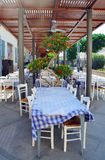 Small restaurant on the outdoor terrace Stock Photography
