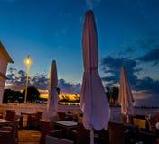 A small restaurant by the pier. Molo area of Sopt, Poland Stock Photos