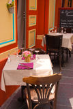 Small restaurant table in France royalty free stock photography