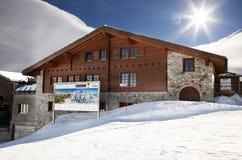 Small restaurant in Zermatt Stock Photo