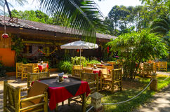 Small restaurant in the Thai style. Royalty Free Stock Image