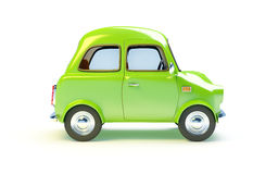 Small retro car side Royalty Free Stock Images