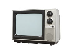 Small Retro Television Isolated with Clipping Path Stock Photography