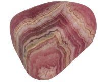 Small rhodochrosite pebble macro isolated on white. Background Stock Photos