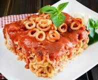 Small rings of  Sicilian pasta Stock Photo