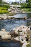Small river. In the park, city of Oulu, Finland Stock Photo