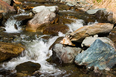 Small river in Alps mountain in Austria Royalty Free Stock Photo
