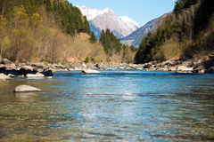 Small river in Alps mountain in Austria Royalty Free Stock Photos