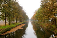 Small river in the autumn Royalty Free Stock Image