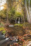 Small river in autumn. Autumn in the river Bohílgues. Ademuz. Valencia Stock Photo