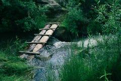 A small river bridge royalty free stock photo