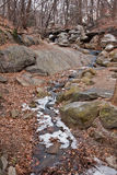 Small River in Central Park New York City Royalty Free Stock Image