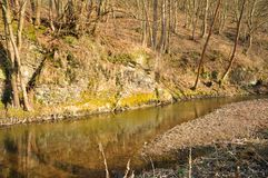 Small river in Europe Royalty Free Stock Photo