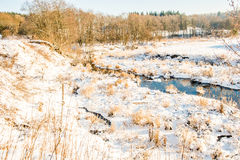 Small river in field Royalty Free Stock Photography