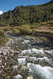 small river with mounatin on road from kunming to Shangri-la, Ch Stock Image