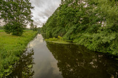 Small river in a nature conservation area Royalty Free Stock Images