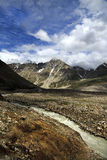 Small river near mountain valley at Northern India Stock Image