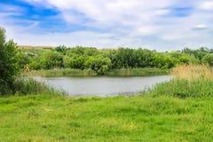 Small river near the Ukrainian village Stock Photos