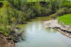 Small river Northern Unga Royalty Free Stock Images
