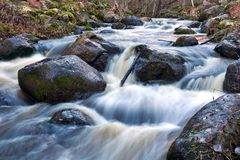 Water flowing fast stock image