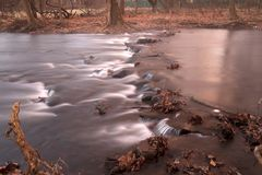 Small creek in Bucks County, Pa. USA Royalty Free Stock Images