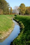 Small river that runs through the countryside in the town of Vigo in the province of Padua in Veneto (Italy) Stock Photo