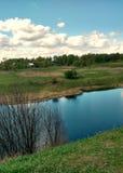 A small river. Stock Photos