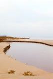 Small river and sea. Stock Photo