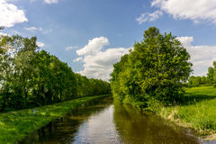 Small river with trees Royalty Free Stock Photo