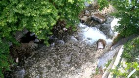 Small river among trees in the hot springs in Pozar Aridea Greece