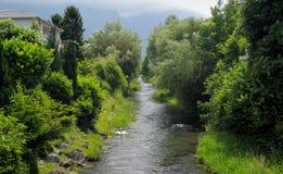Small river in Vaduz stock photos