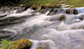 Small river waterfall Royalty Free Stock Image